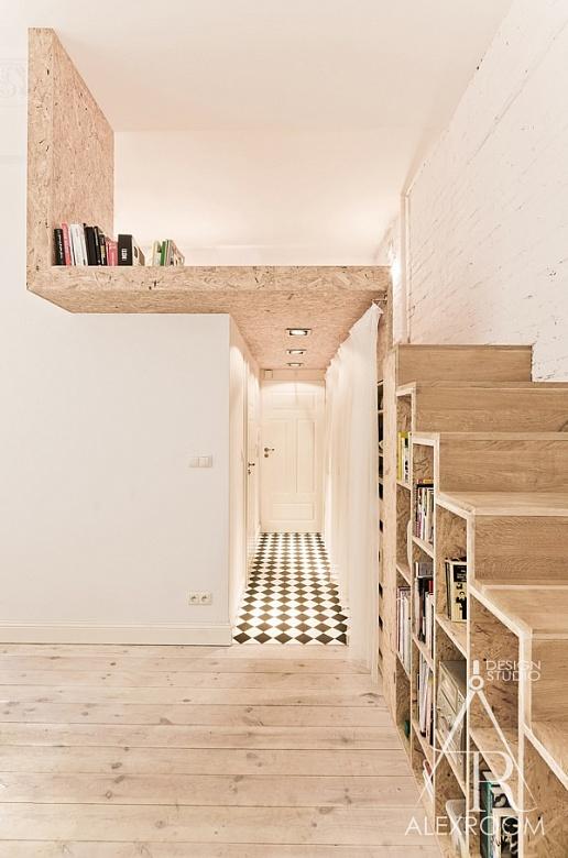 двухъярусная кровать для взрослых интерьер однокомнатной квартиры студии 30 кв м фото