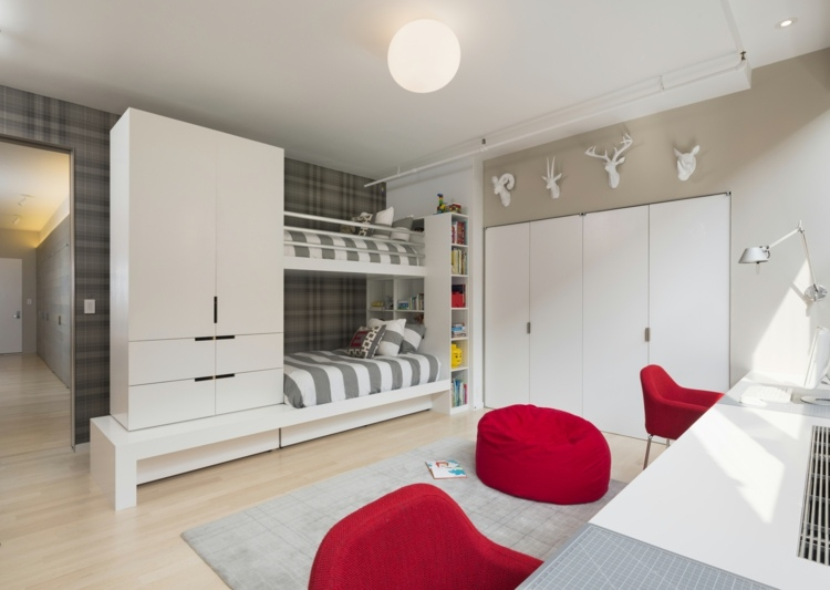 идея детская комната на две зоны фото