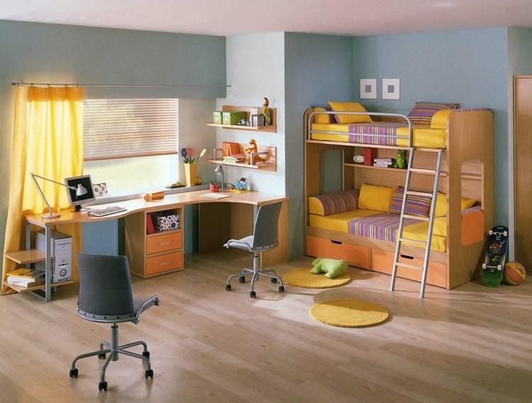 идея интерьера детской комнаты для двух мальчиков фото