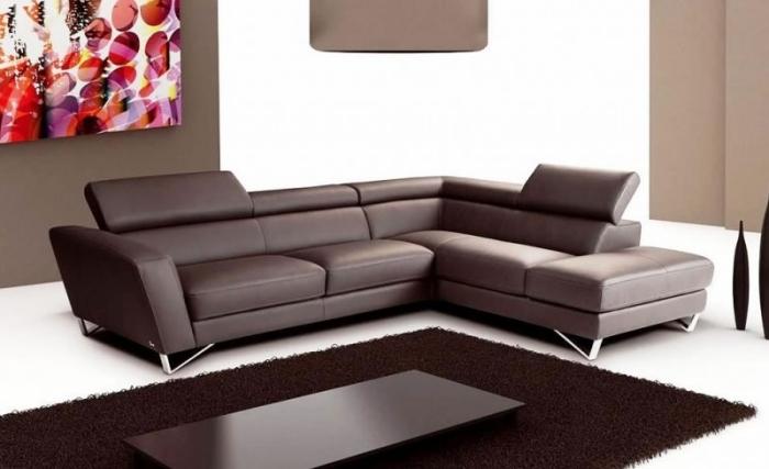 кожаный черный угловой диван фото классический в гостиной