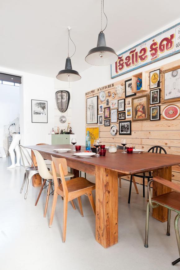 мебель из массива дерева тик обеденный стол обшивка вагонкой