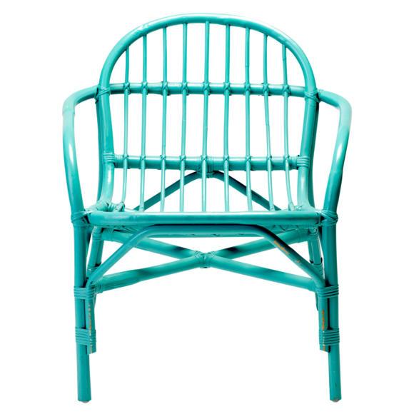 натуральная деревянная мебель бамбук крашеный бирюзовый кресло фото