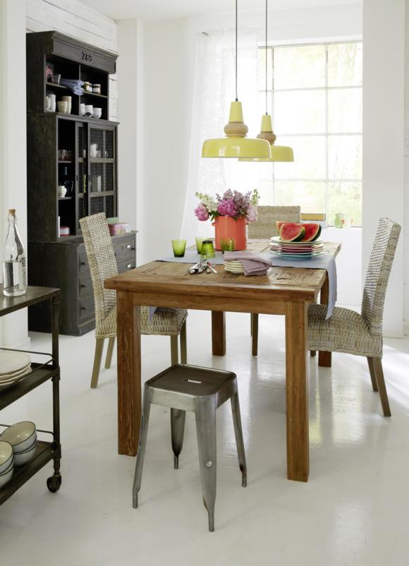 натуральная деревянная мебель тик обеденный стол фото