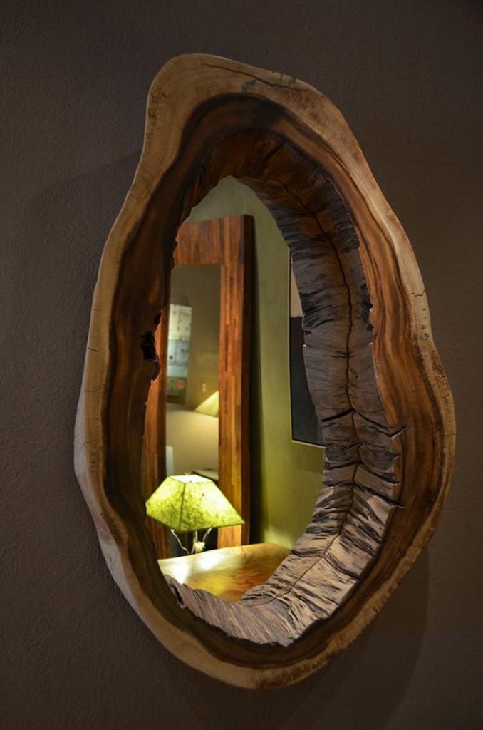 рамка для зеркала натуральное дерево массив фото