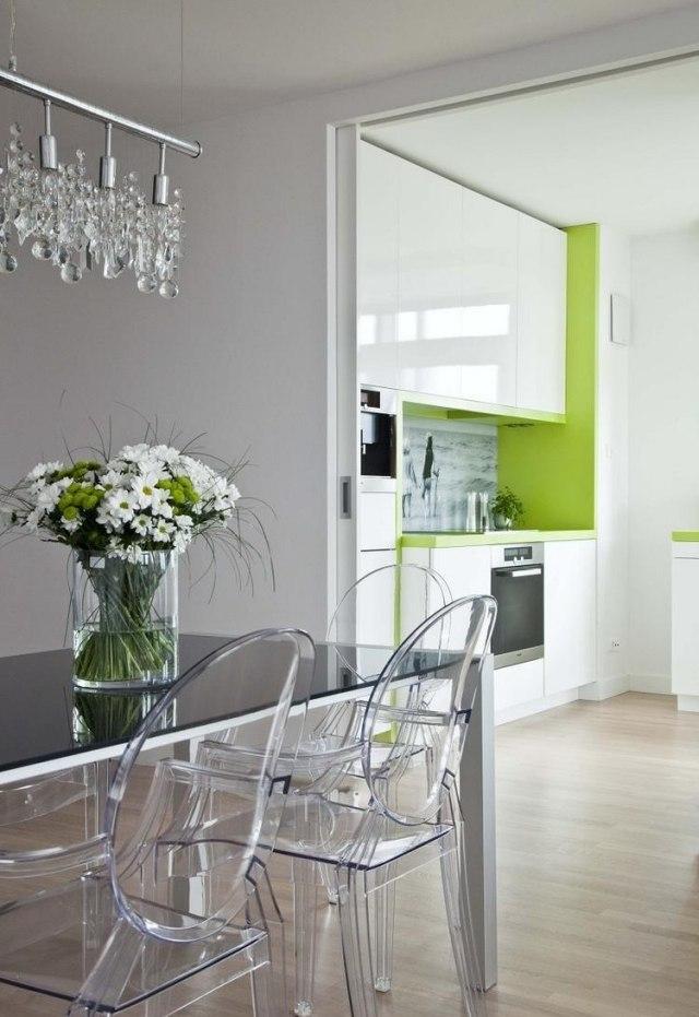 бело-зеленая кухня фото реальное