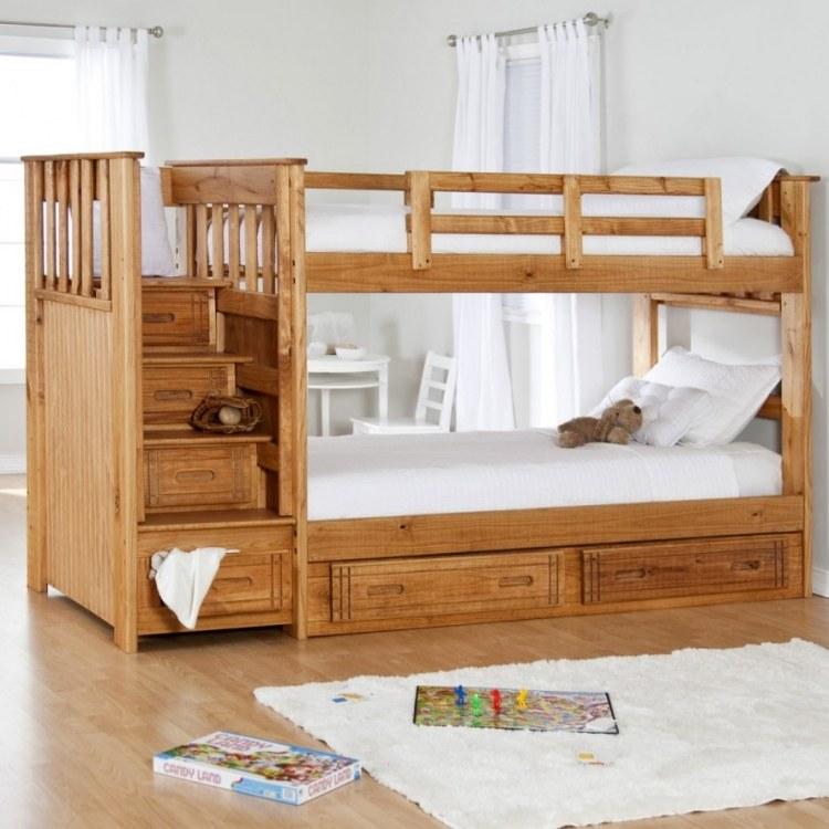 детская двухъярусная кровать с ящиками для хранения фото идеи для маленькой спальни