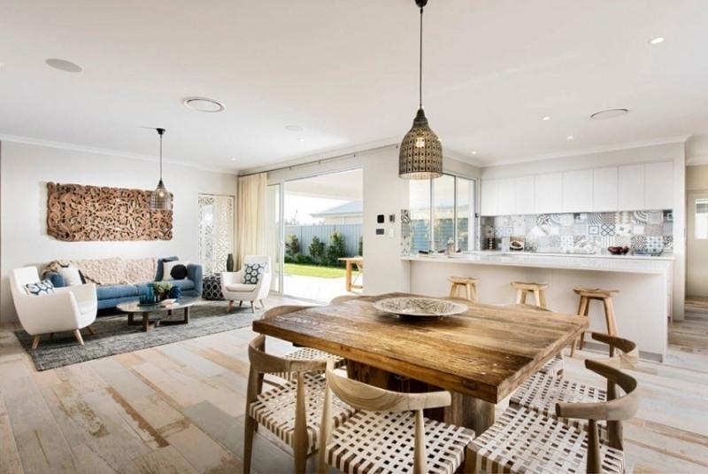 дизайн кухня столовая гостиная фото этно частный дом