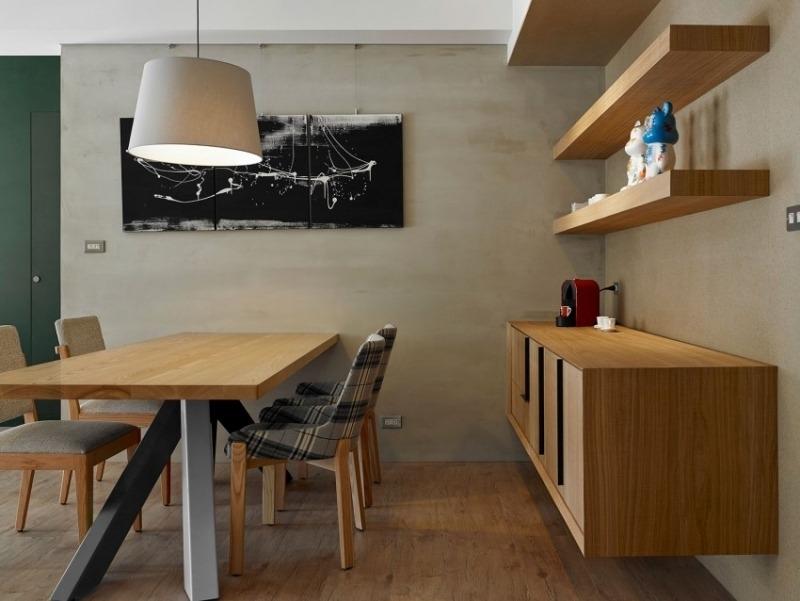 дизайн современная обеденная зона интерьер дерево фото
