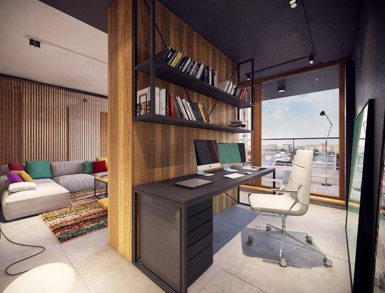 интерьер маленького кабинета фото стильный современный