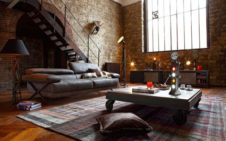 интерьер стимпанк дома фото мебель лампа стол аксессуары