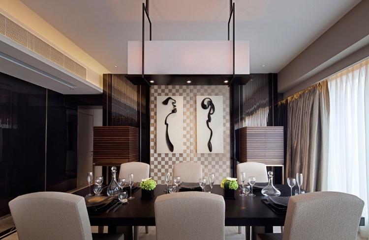 интерьер столовой фото частный дом дизайн темные цвета