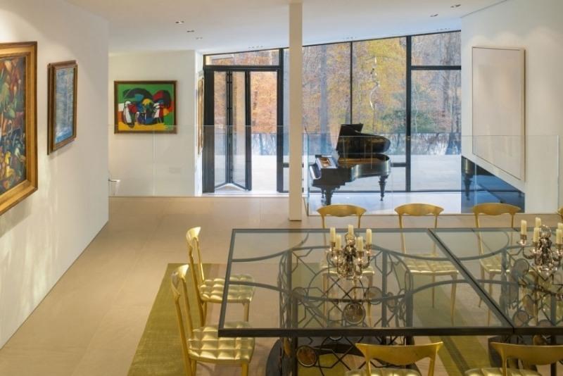 интерьер столовой обеденной зоны в частном доме фото