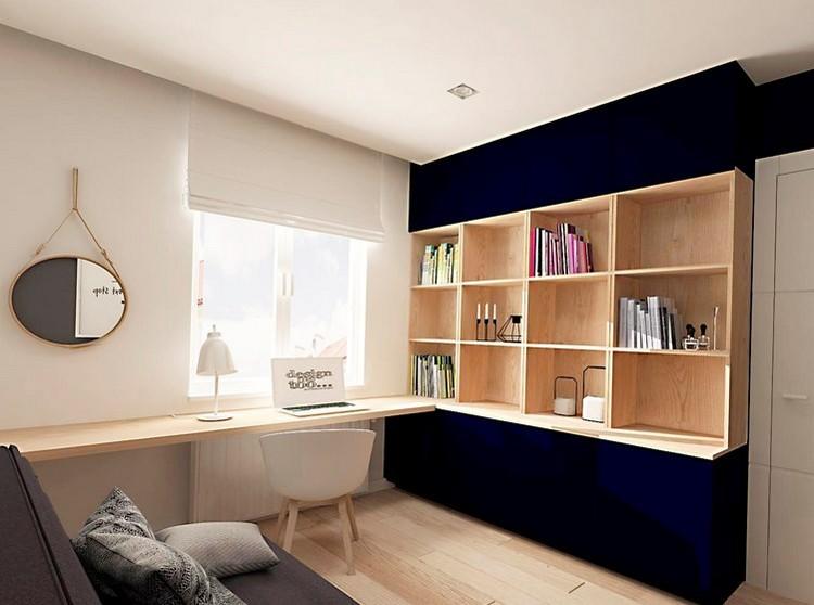 кабинет в доме в квартире фото дизайн интерьер современный дерево