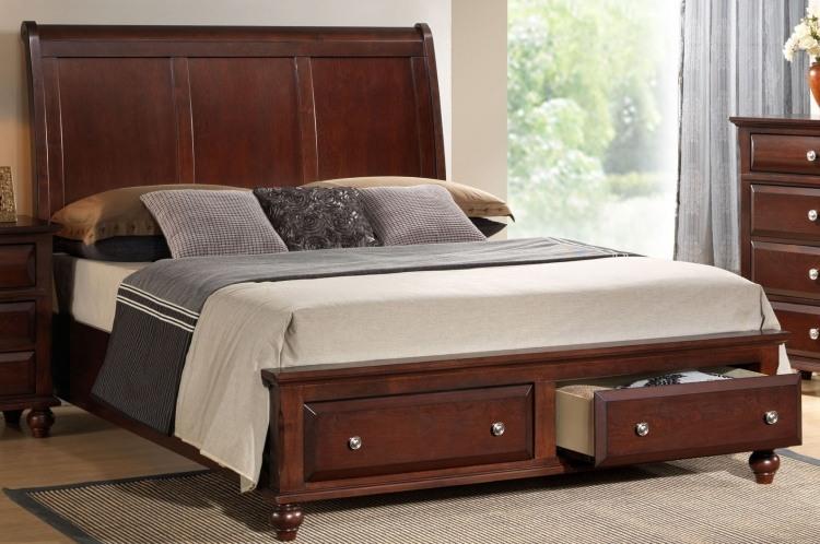 классическая мебель кровать с выкатными ящиками фото идеи для маленькой спальни