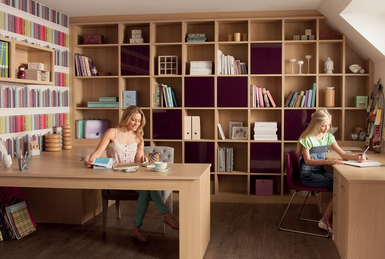 рабочая комната кабинет для двоих фото система хранения