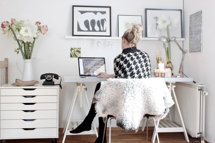 рабочее место кабинет фото скандинавский стиль