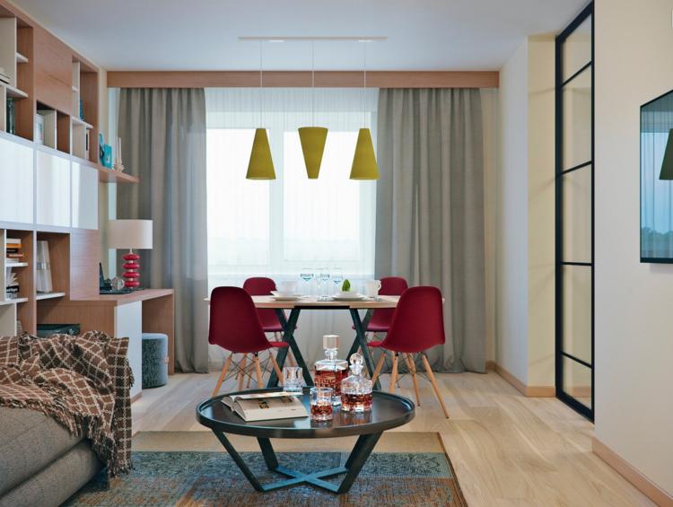 современный интерьер гостиной столовой фото в квартире