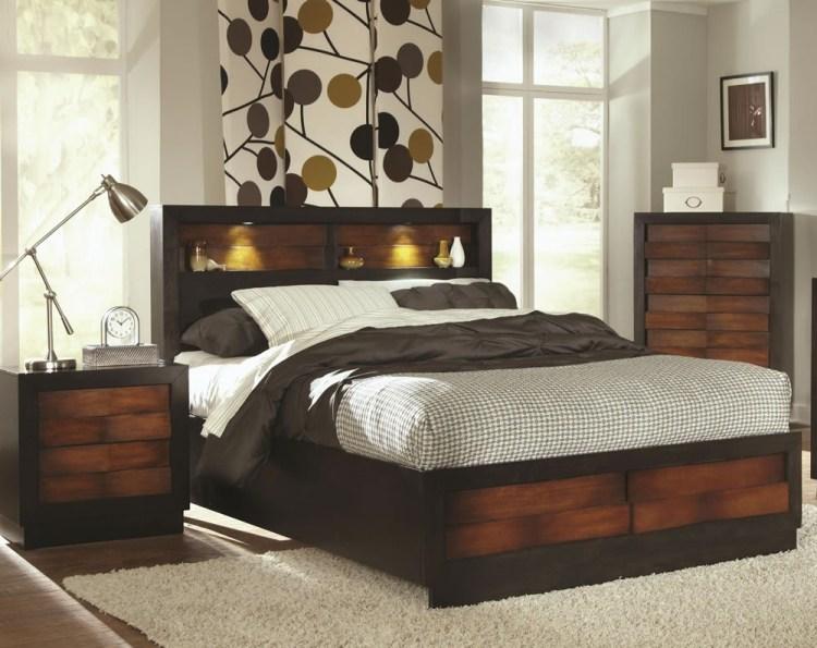 современный стиль кровать с ящиками фото идеи для маленькой спальни