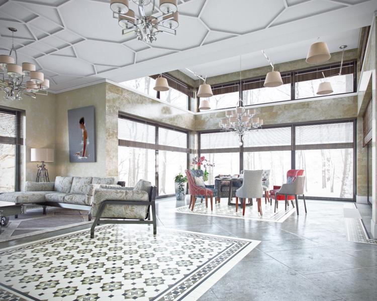 столовая классический интерьер фото в частном доме