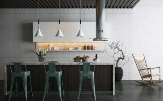 барные стулья для кухни фото дизайнерские серые