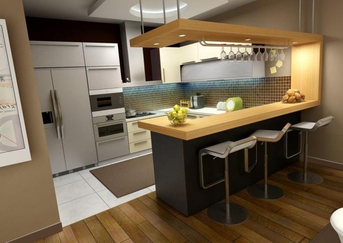 барные стулья фото металлические маленькая кухня