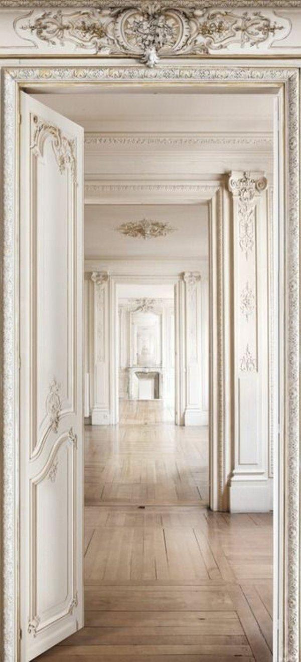 белая межкомнатная дверь ампир фото анфилада
