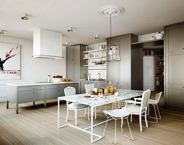 белые стулья для кухни фото разные