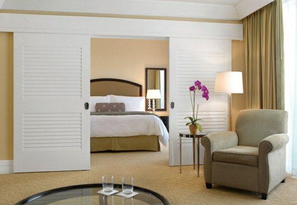 большие раздвижные белые межкомнатная дверь фото