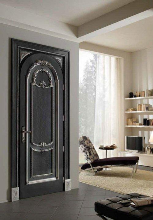 черная межкомнатная дверь красивая фото необычная
