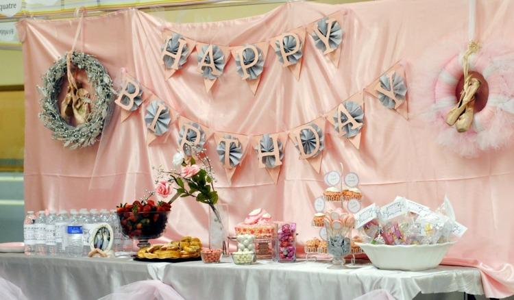 декор оформление детского праздника фото в стиле балерина украшения идеи