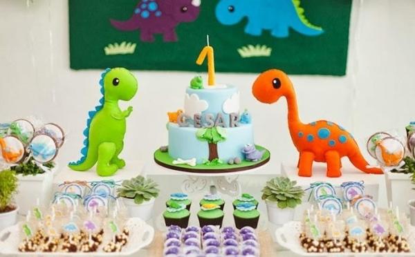 декор оформление детского праздника фото в стиле динозавры сладости идеи