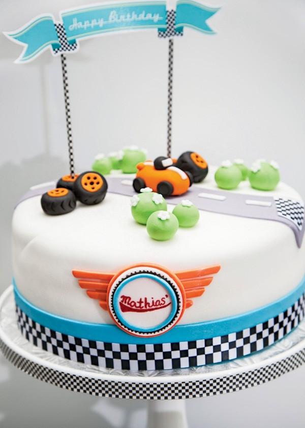 декор оформление детского праздника фото в стиле гонки формула 1 мальчик торт