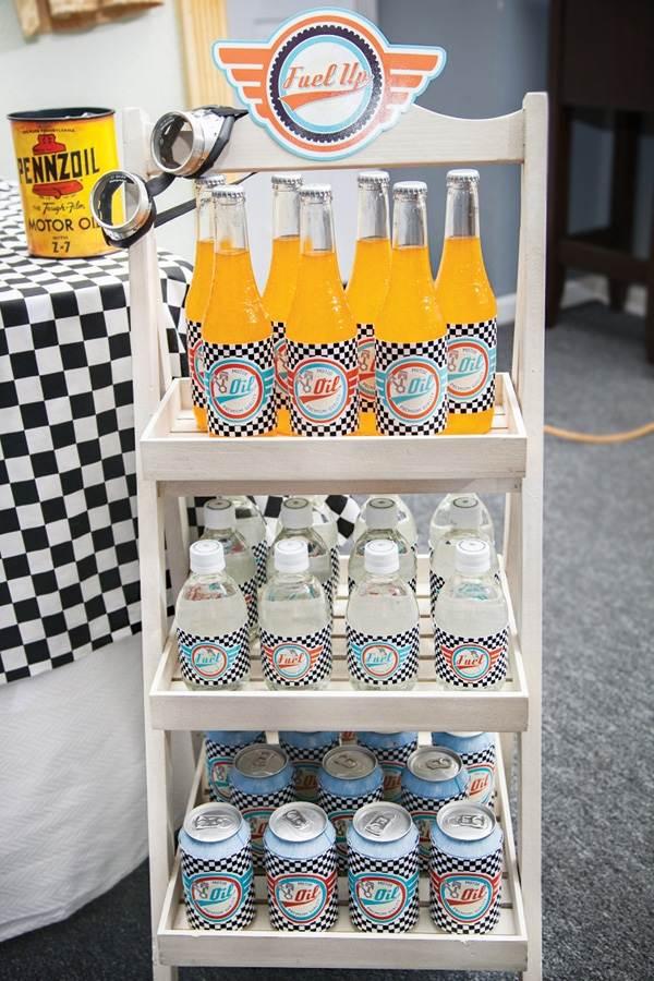 декор оформление детского праздника фото в стиле гонки формула 1 мальчики напитки