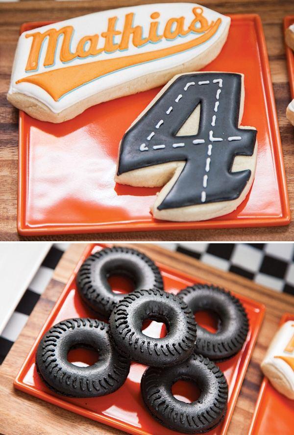 декор оформление детского праздника фото в стиле гонки мальчики формула 1 торт