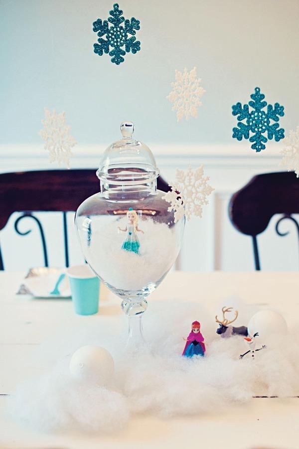 декор оформление детского праздника фото в стиле холодное сердце украшения своими руками идеи