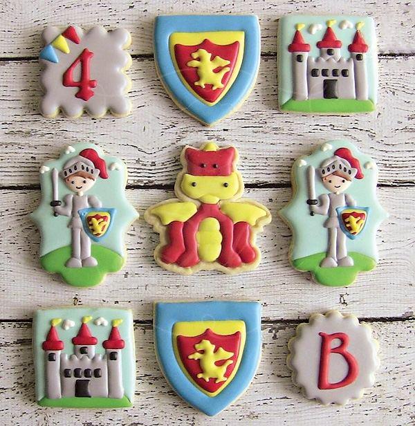 декор оформление детского праздника фото в стиле рыцарь печенья
