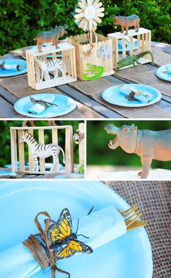 декор оформление детского праздника фото в стиле зоопарк