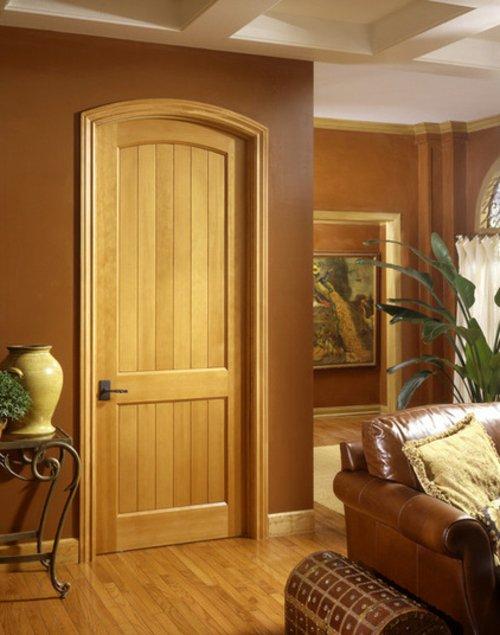 деревянная межкомнатная дверь цвет орех фото