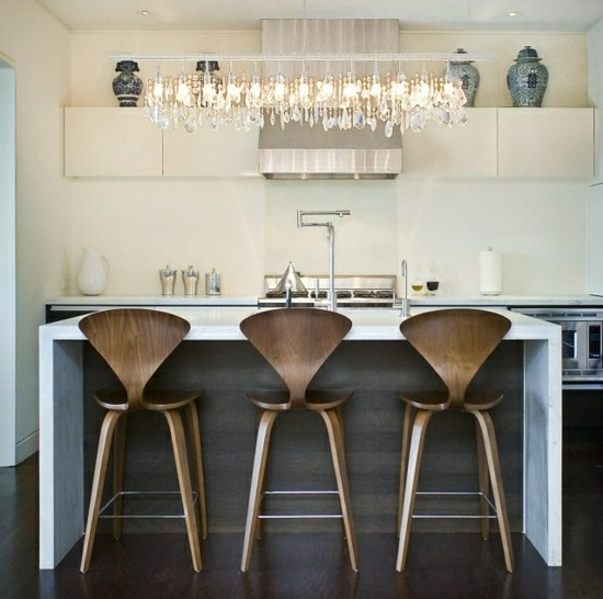деревянные барные стулья для кухни фото со спинкой