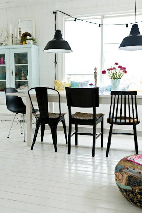деревянные черные стулья для кухни фото разные