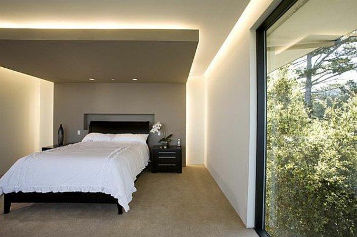 дизайн непрямого освещения в спальне фото