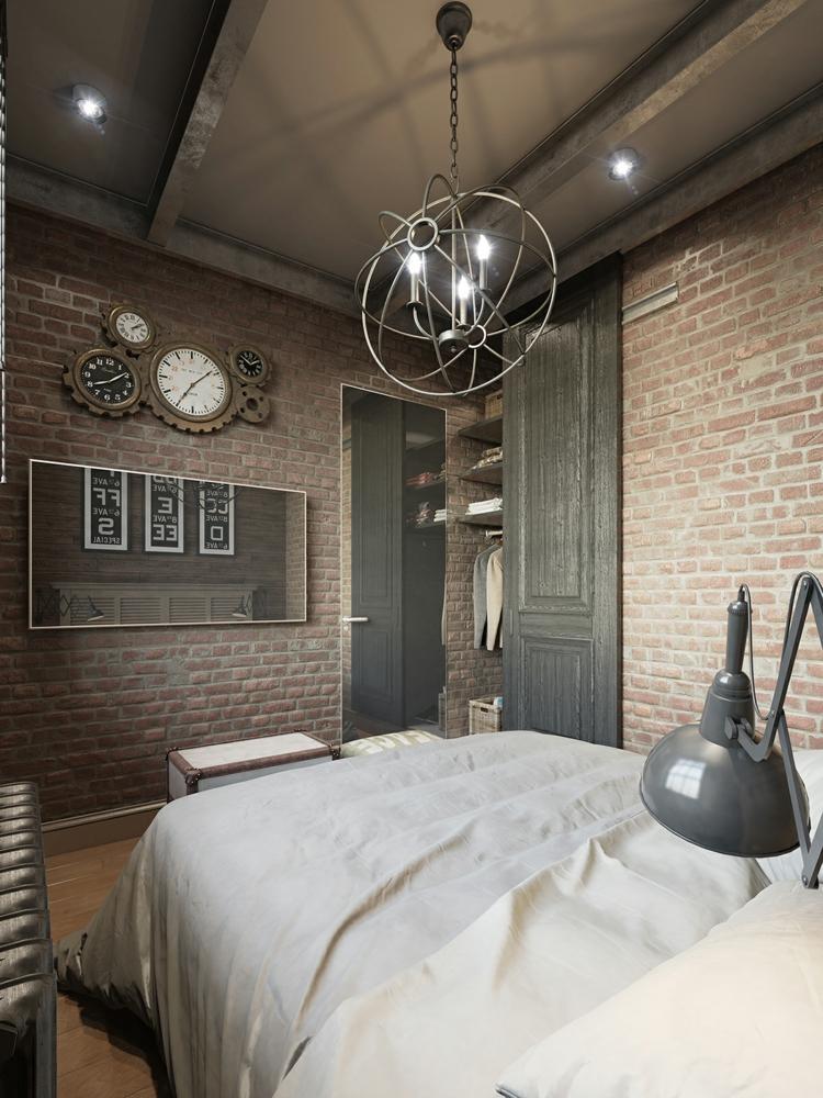 дизайн стиль стимпанк фото интерьер спальни