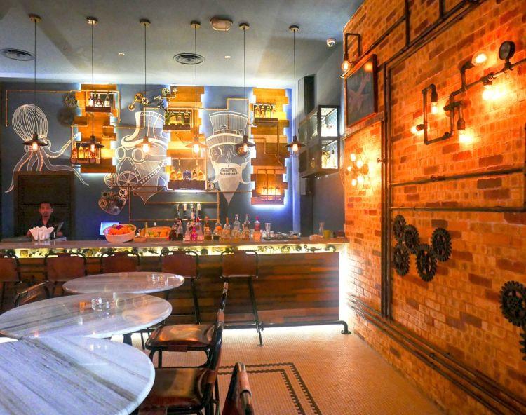 дизайн стимпанк стиль в интерьере кафе фото