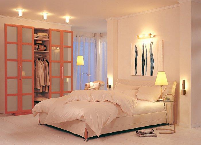 идеи освещения спальни в интерьере фото