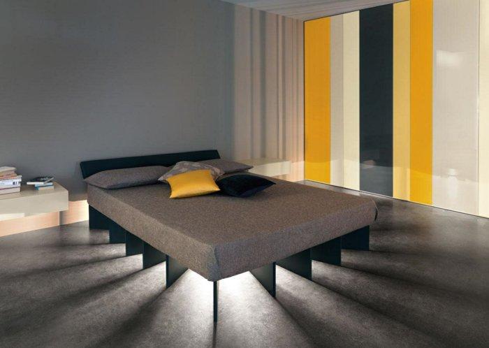 идея освещения в спальне фото