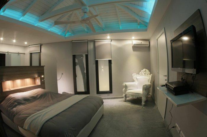 идея освещения в спальне лед LED фото в интерьере