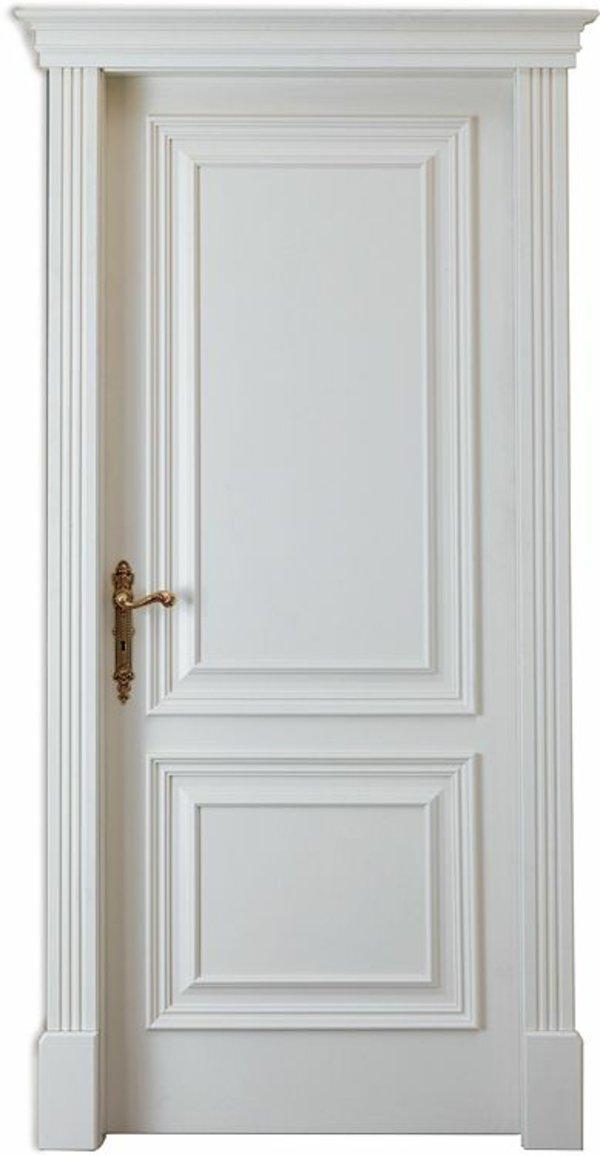 классическая межкомнатная дверь белая фото