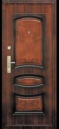 коричневая металлическая дверь в квартиру фото под дерево