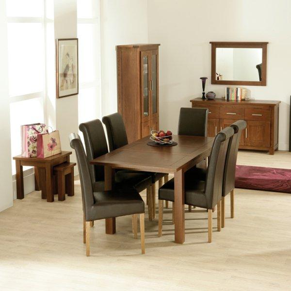 кожаные классические стулья обеденные для кухни фото черные на деревянных ножках