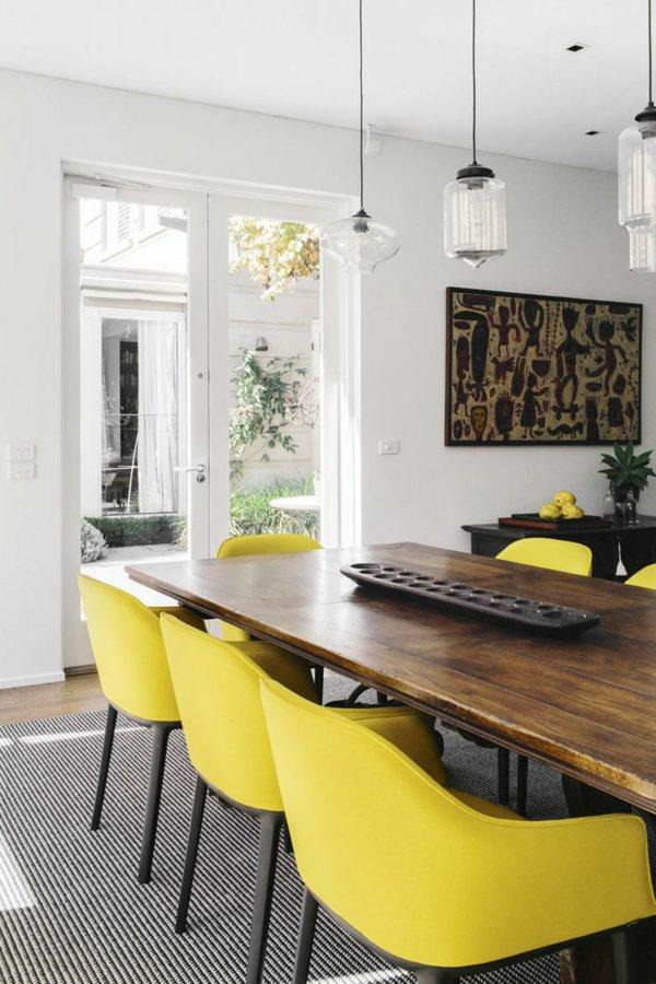 кожаные желтые стулья обеденные для кухни фото кресла